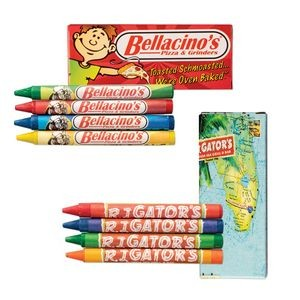 4 Pack Custom Crayons Box