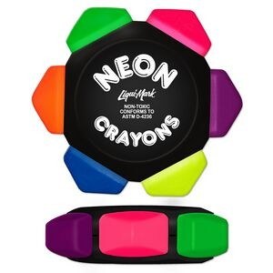 Liqui-Mark® Crayo-Craze® Neon 6-Color Crayon Wheel